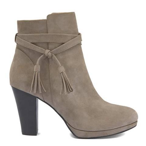 Mint Velvet Taylor Taupe Tassel Ankle Boots