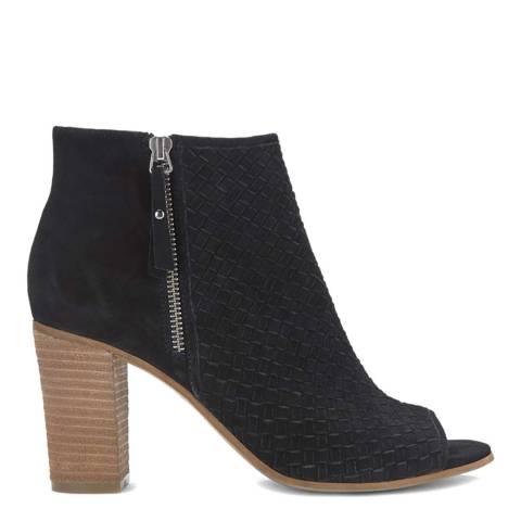 Mint Velvet Josie Black Woven Shoe Boot