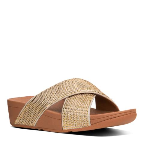 FitFlop Gold Mix Ritzy Slide Sandals