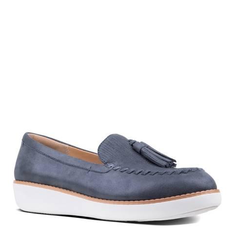 FitFlop Midnight Navy Petrina Metallic Loafers