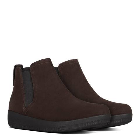 FitFlop Chocolate Brown Superchelsea Suede Chelsea Boots
