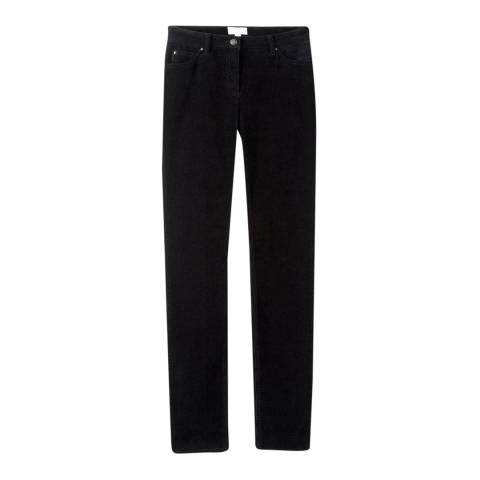 Pure Collection Black Corduroy Slim Stretch Jeans