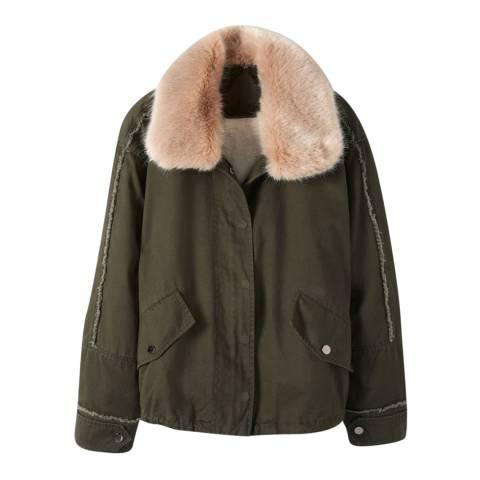 Pure Collection Khaki Cotton Parka Jacket