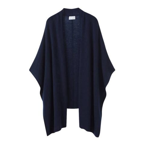 Pure Collection Navy Gassato Cashmere Cardigan