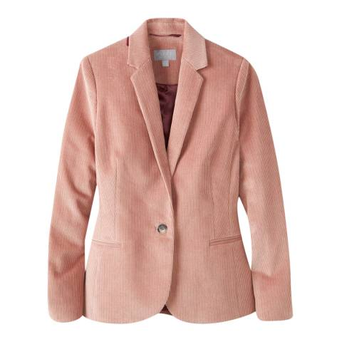 Pure Collection Pink Cord Cotton Stretch Tailored Blazer
