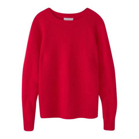 Pure Collection Red Lofty Cashmere Jumper