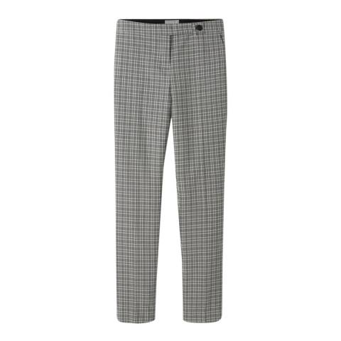 Pure Collection Grey Mini Check Tailored Trousers