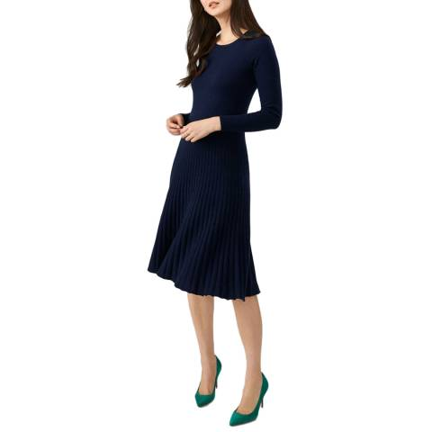 Pure Collection Navy Knitted Dress