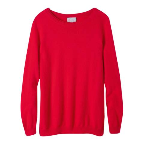 Pure Collection Red Boyfriend Cashmere Jumper