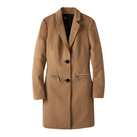 Pure Collection Camel Classic Wool Blend Coat