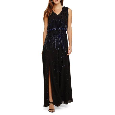 Phase Eight Black/Violet Mia Sequin Dress