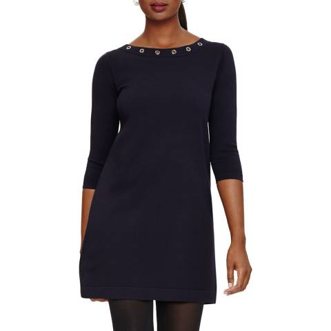 Phase Eight Navy Esmerelda Knit Dress