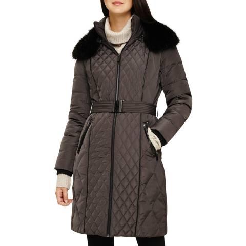 Phase Eight Slate Davina Long Puffer Coat