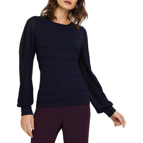 Phase Eight Navy Benita Knit Top