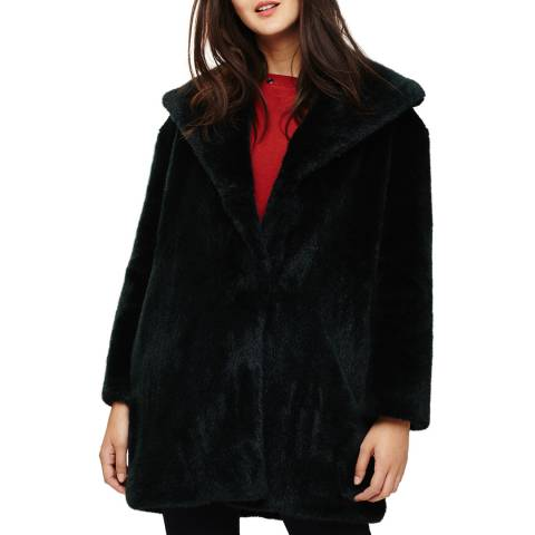 Phase Eight Green Beckie Faux Fur Coat