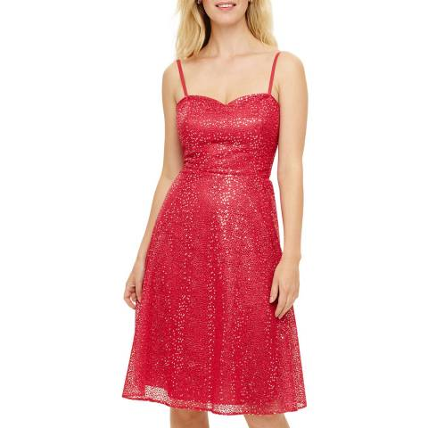 Phase Eight Red Annis Sequin Dress