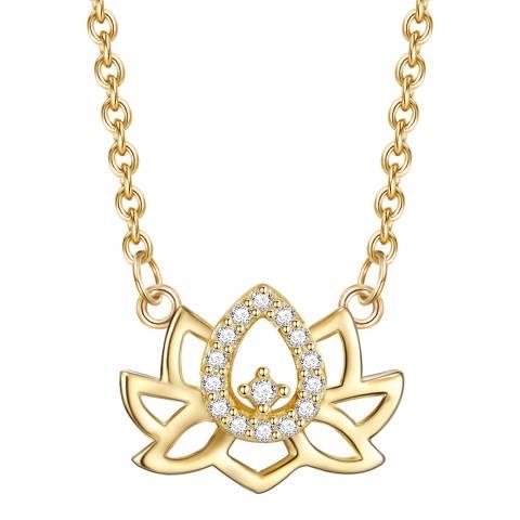 Lindenhoff Gold Crystal Lotus Necklace