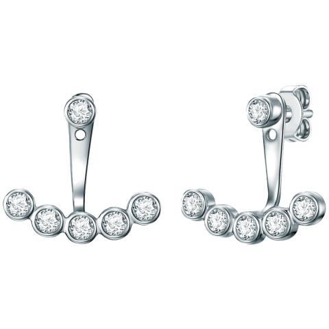 Carat 1934 Silver Crystal Cuff Earrings