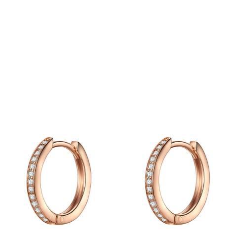 Carat 1934 Rose Gold Crystal Hoop Earrings