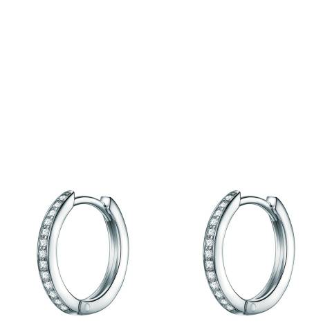 Carat 1934 Silver Crystal Hoop Earrings