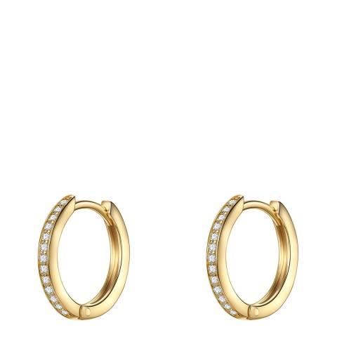 Carat 1934 Gold Crystal Hoop Earrings