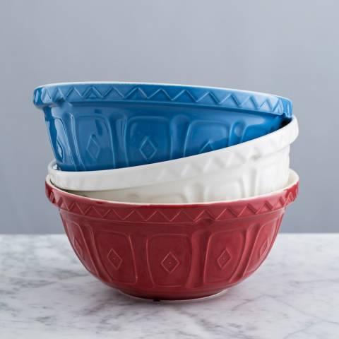 Mason Cash Red Colour Mix Mixing Bowl, 29cm
