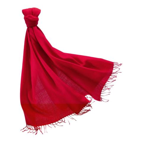 Pure Collection Large Pillarbox Red Cashmere Pashmina