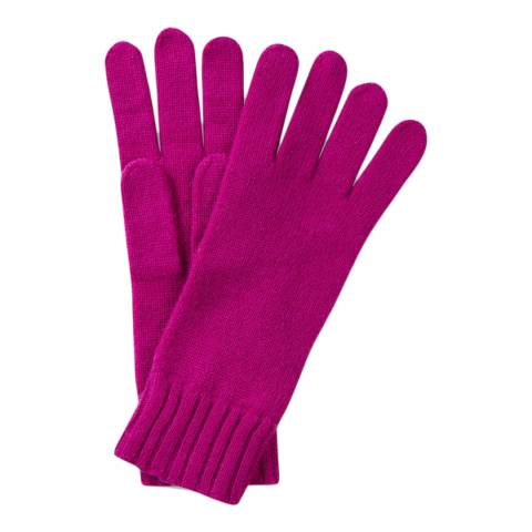 Pure Collection Bright Magenta Cashmere Gloves