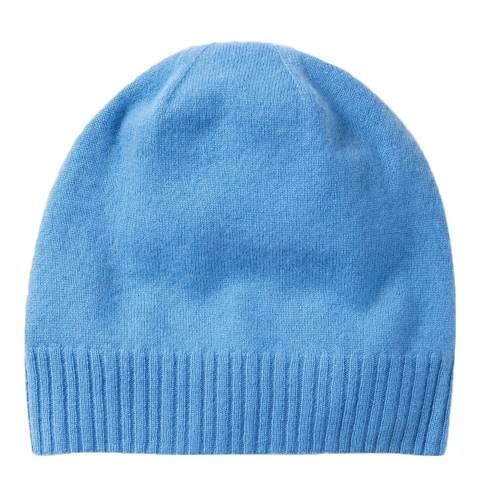 Pure Collection Denim Blue Cashmere Hat