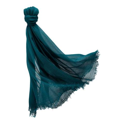 Pure Collection Pine Green Ultra Soft Gauzy Scarf