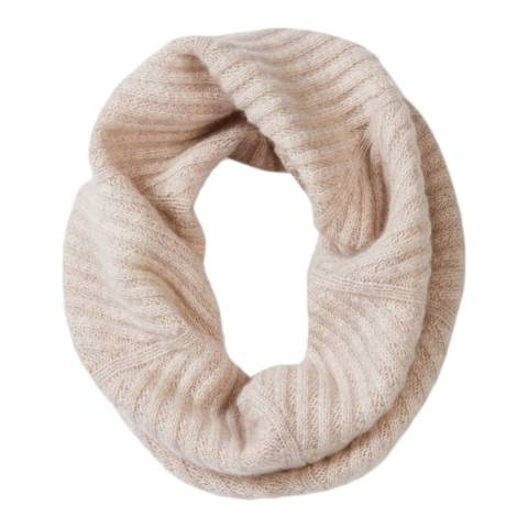 Pure Collection Marble Cashmere Ribbed Snood