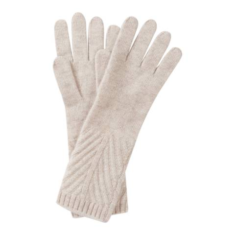 Pure Collection Marble Cashmere Ribbed Gloves