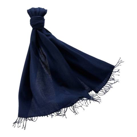 Pure Collection Medium Navy Cashmere Pashmina
