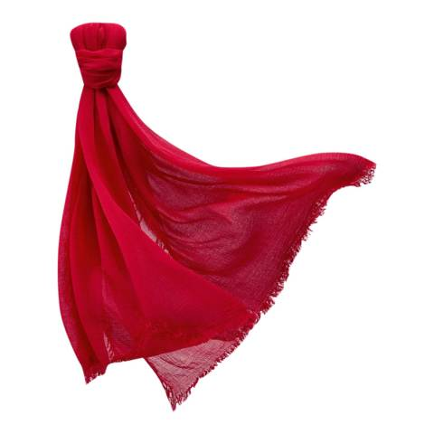 Pure Collection Pillarbox Red Ultra Soft Gauzy Scarf