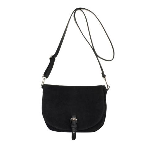 Markese Black Leather Crossbody Bag