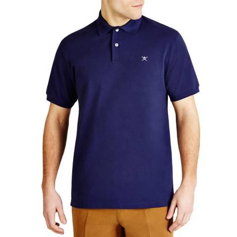 Hackett London Blue Tailored Logo Polo Shirt