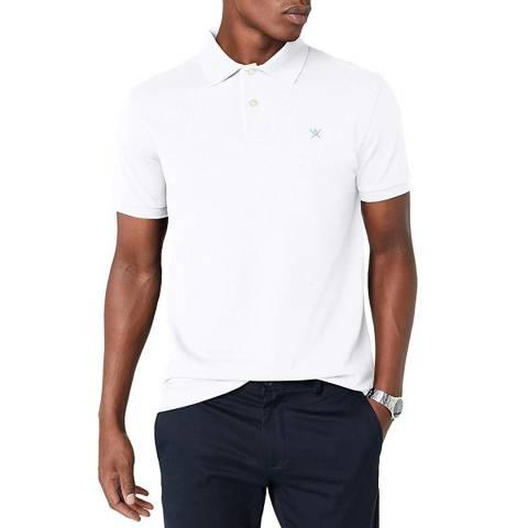 Hackett London White Tailored Logo Cotton Polo Shirt