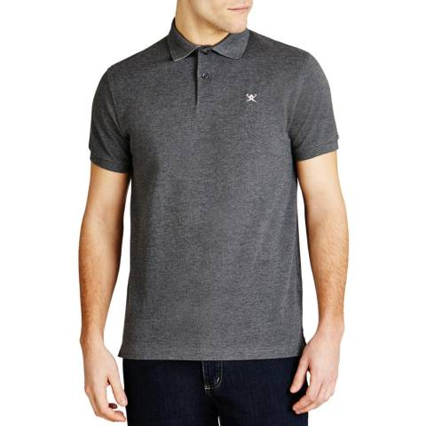 Hackett London Charcoal Tailored Logo Cotton Polo Shirt