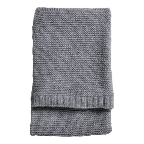Gallery Grey Chunky Knitted Throw 130x170cm