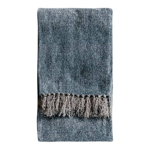 Gallery Teal Chenille Herringbone Throw 130x170cm