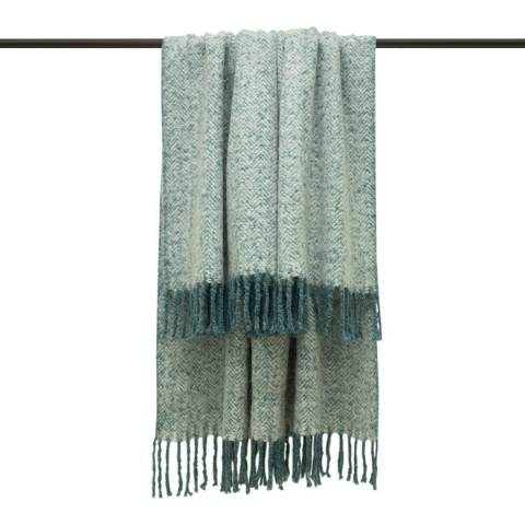 Furn Teal Weaver Throw 130x180cm