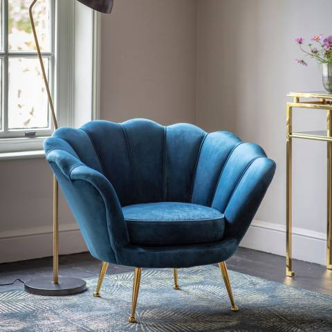 Gallery Rivello Armchair, Inky Blue