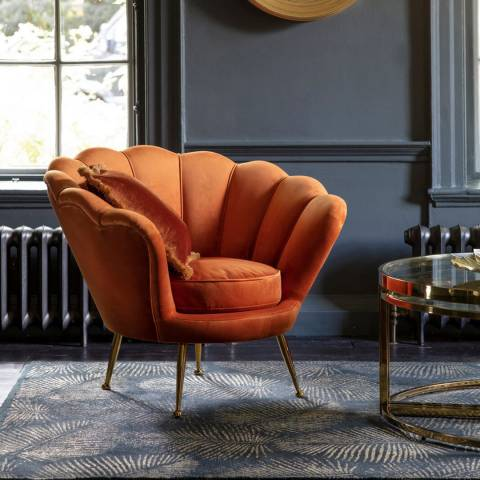 Gallery Rivello Armchair Rusty, Orange