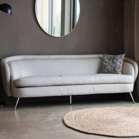 Gallery Tesoro Sofa, Cream Leather