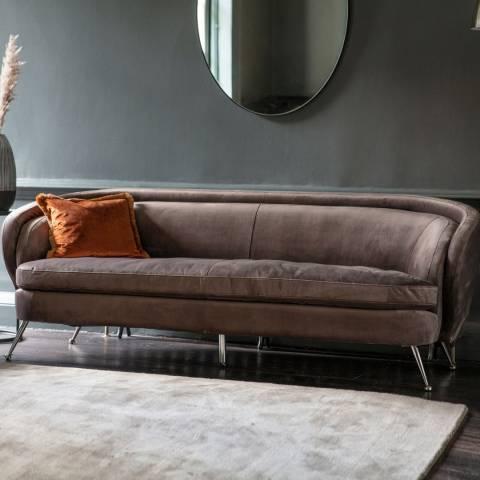 Gallery Tesoro Sofa Dark, Taupe Velvet