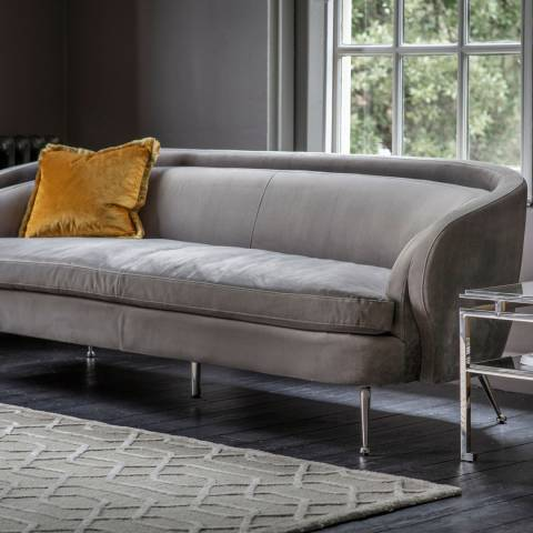 Gallery Tesoro Sofa, Grey Velvet