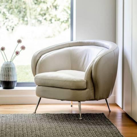 Gallery Tesoro Tub Chair, Cream Leather