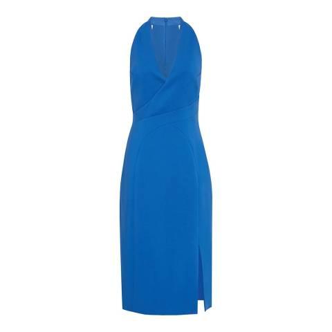 Reiss Cobalt Abriana V Neck Dress