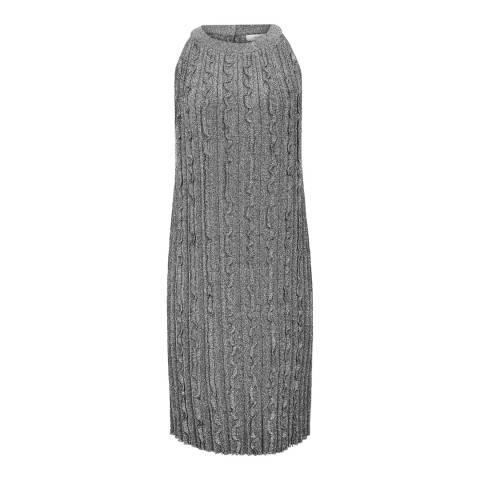 Reiss Silver Ethol Knit Dress