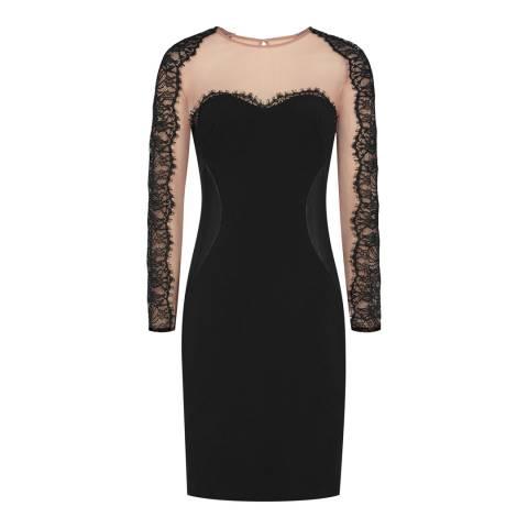 Reiss Black Joelie Lace Bodycon Dress